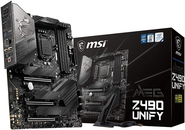 MSI MEG Z490 Unify ATX Gaming Motherboard - Best Motherboards for i9 10900k