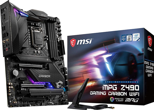 MSI MPG Z490 Gaming Carbon WiFi Gaming Motherboard - Best Motherboards for i9 10900k