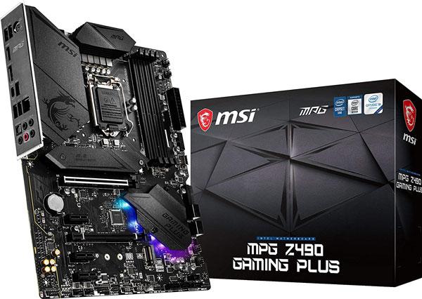 MSI MPG Z490 Gaming Plus Motherboard - Budget Friendly Motherboard
