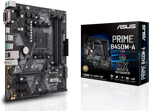 09-Asus Prime B450M-A-CSM AMD AM4 - Best Cheap Motherboard for Gaming